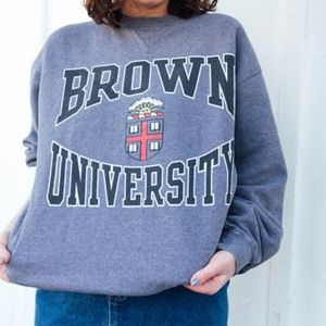 Vintage Brown University Crew-neck